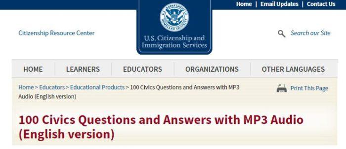 20 сложных вопросов теста на американское гражданство