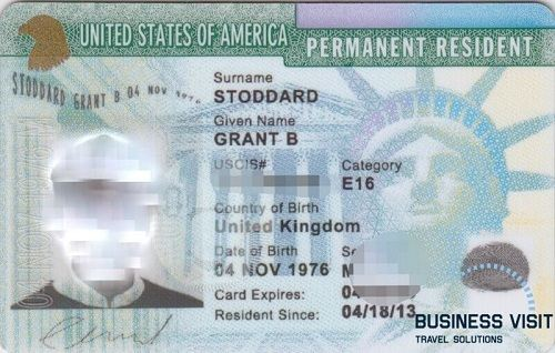 Как выглядит грин карта США